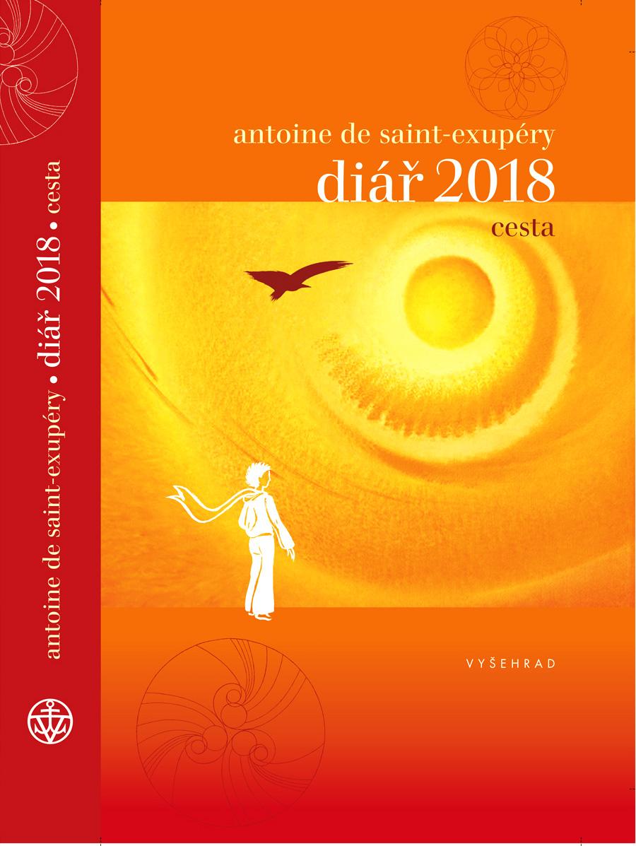 """Obálka diáře na rok 2018: """"Cesta"""" s citáty Antoine de saint-Exuperyho"""